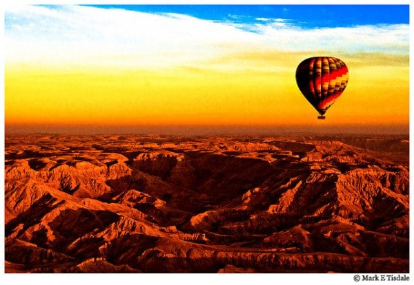 Hot Air Balloon picture over the Valley of the Kings in Egypt