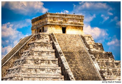 Temple to Kukulcan in the Yucatan - Chichen Itza