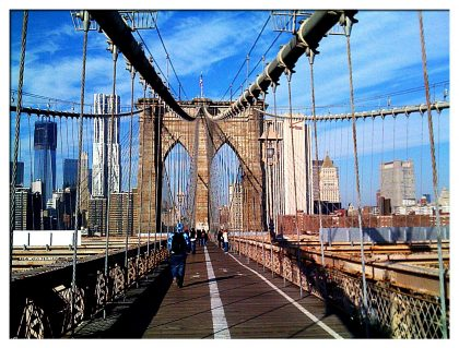 Brooklyn Bridge in the Winter Sun