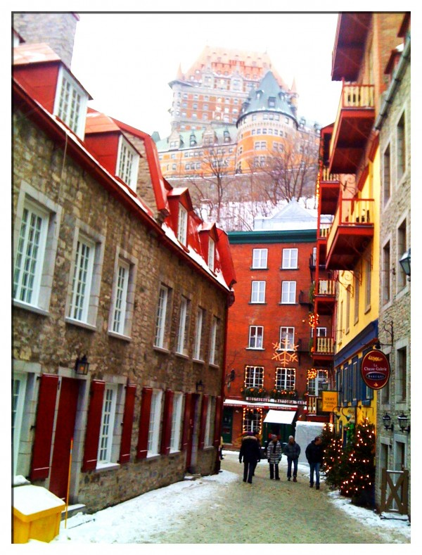 View of Chateau Frontenac from Old City