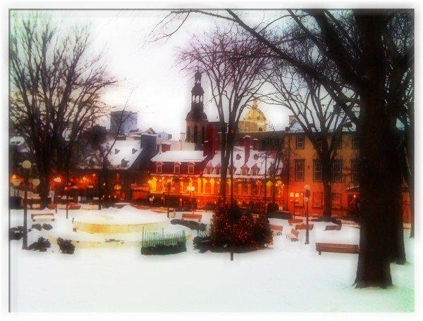 Snow in Quebec City