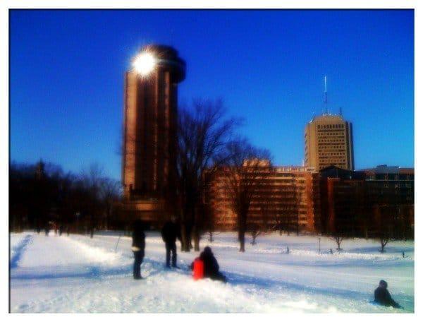 Battlefield Park - iPhone View of Quebec Skyline