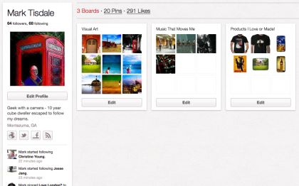 My Pinterest Boards are much fewer Tonight