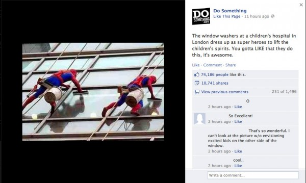 Screenshot of a photo posted on Facebook