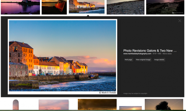 One of my images on Google Search