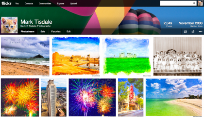 Screenshot of Flickr Redesign
