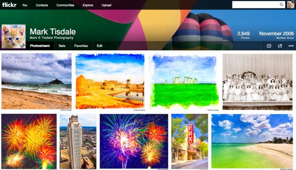 Screenshot of Flickr Redesign