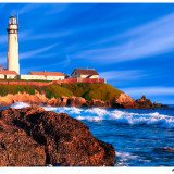 California Coastal Lighthouse Art by Mark E Tisdale