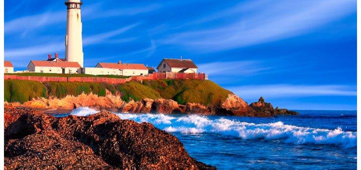California Coastal Lighthouse Art by Mark E Tisdale
